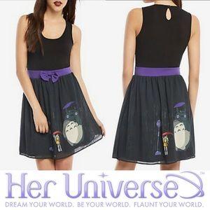 Hot Topic x Her Universe Studio Ghibli My Neighbor Totoro Purple Bow Belt Dress